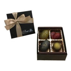 チョコレートの宝石4個セット