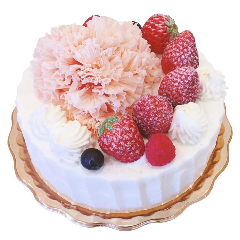 生クリームデコレーション(母の日イベントケーキ)